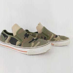 GAP 1969 canva slip on camo men's shoes size 10
